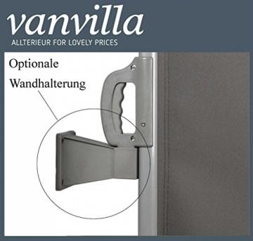 vanvilla Seitenmarkise Sichtschutz Sonnenschutz Windschutz Markise Seitenwand Anthrazit 120x300 cm - 4