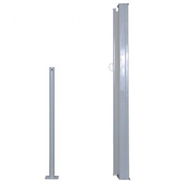 vidaXL Seitenmarkise 120x300cm Creme Sichtschutz Windschutz Sonnenschutz - 5