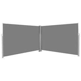 vidaXL Seitenmarkise 200x600cm Grau Sonnenschutz Sichtschutz Windschutz Balkon - 1